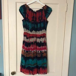 Milly of  New York tie dye fabric print dress: